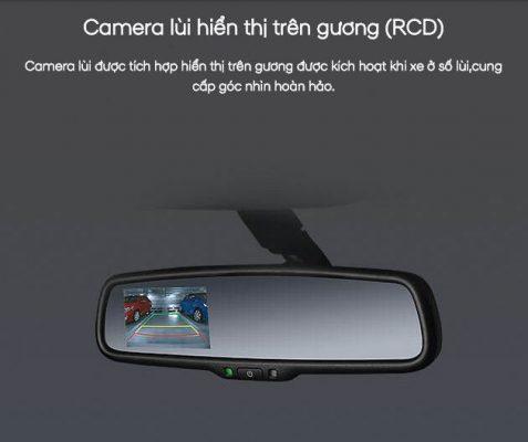 camera lùi trên gương