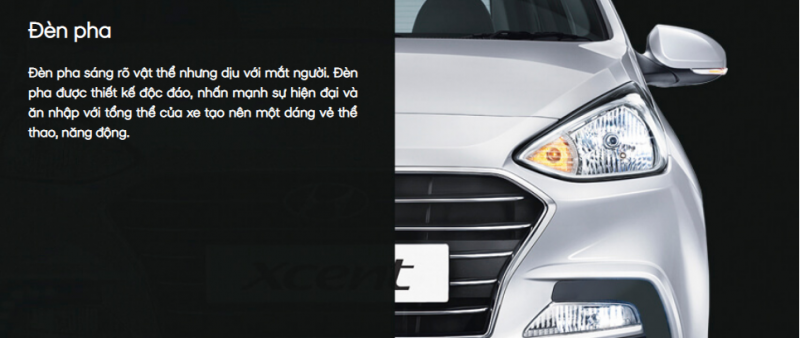 Đèn pha Hyundai Grand I10 sendan