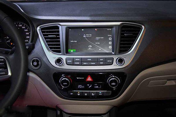 Màn hình hiển thị Hyundai Accent đặc biệt