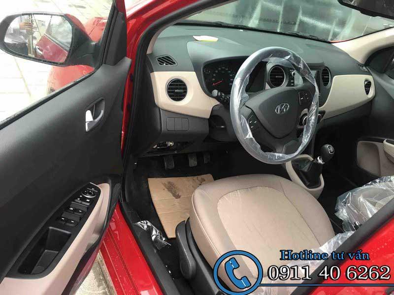 Hyundai Grand i10 sedan 1.2 MT 2 đầu nội thất