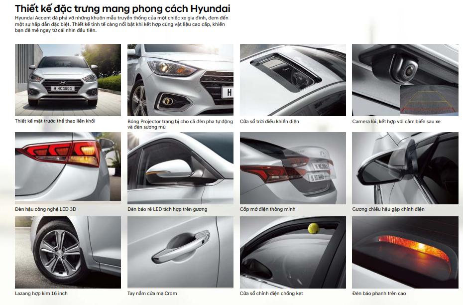 Các thiết kế ngoại thất của Hyundai Accent
