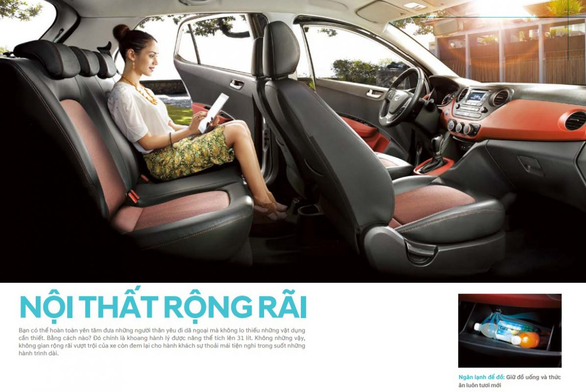 Nội thất Hyundai Grand i10 hatchback 1.2 MT Full