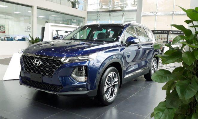Hyundai Santafe màu xanh