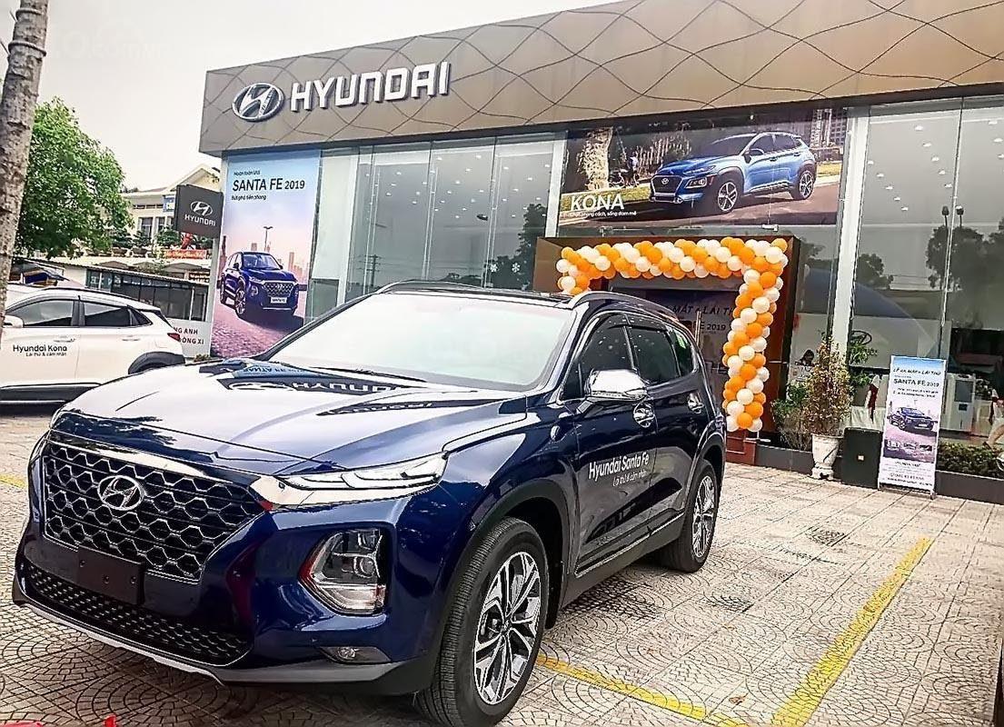 Hyundai Santafe màu xanh 4