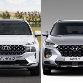 So sánh Hyundai Santa Fe 2021 và 2019
